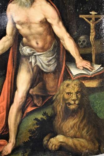 Paintings & Drawings  - Saint Jerome - Italian school of the 16th century