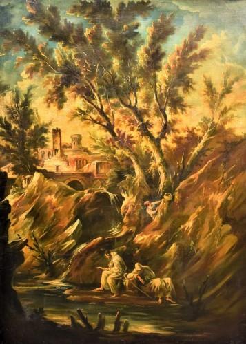 Fantastic Landscape -  Alessandro Magnasco  (Gênes 1667 - 1749)