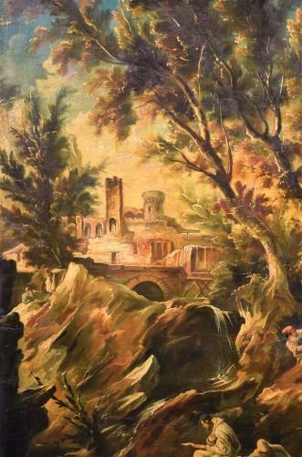 Paintings & Drawings  - Fantastic Landscape -  Alessandro Magnasco  (Gênes 1667 - 1749)
