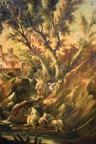 Fantastic Landscape -  Alessandro Magnasco  (Gênes 1667 - 1749)  -