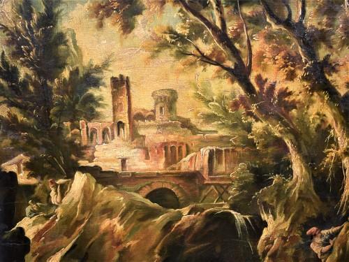 Fantastic Landscape -  Alessandro Magnasco  (Gênes 1667 - 1749)  - Louis XIV