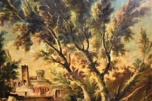 Antiquités - Fantastic Landscape -  Alessandro Magnasco  (Gênes 1667 - 1749)