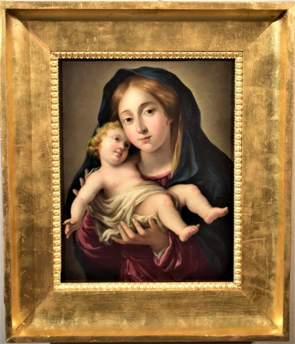 Vierge and Child, Italian school 17th century - Paintings & Drawings Style Louis XIV