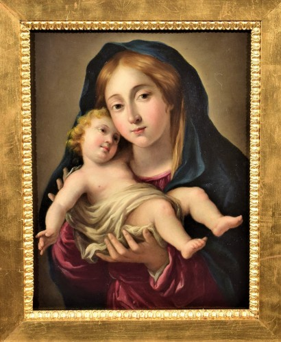 Paintings & Drawings  - Vierge and Child, Italian school 17th century
