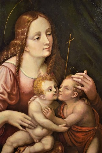 Paintings & Drawings  - Vierge whit Child and St. John the Baptist