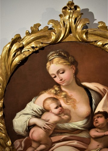 Paintings & Drawings  - Allegory of Charyty - Attributed to Domenico Piola  (Gênes 1627-1703)