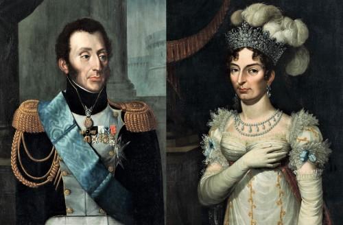Louis XIX, Duke of Angoulême and the Duchess.