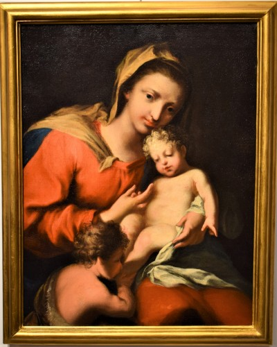 Vierge and Child workshop of Jacopo Amigoni - Paintings & Drawings Style Louis XV