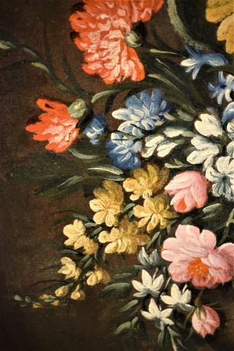 Pair of still lifes with floral compositions,  Giacomo Nani (Naples 1698-1755) -