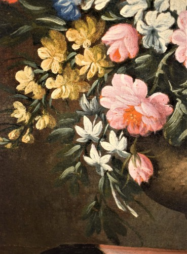 18th century - Pair of still lifes with floral compositions,  Giacomo Nani (Naples 1698-1755)