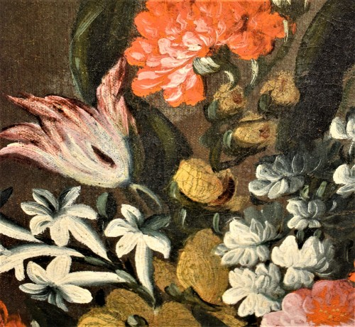 Pair of still lifes with floral compositions,  Giacomo Nani (Naples 1698-1755) - Louis XV