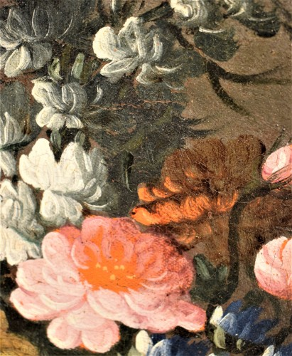 Antiquités - Pair of still lifes with floral compositions,  Giacomo Nani (Naples 1698-1755)