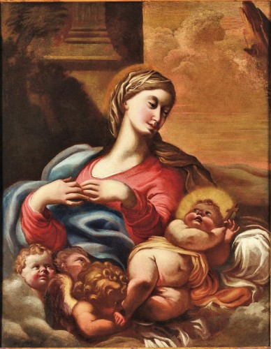 Madonna and Child - workshop Domenico Piola (Genoa 1627-1703)
