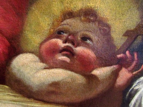 Madonna and Child - workshop Domenico Piola (Genoa 1627-1703) - Louis XIV