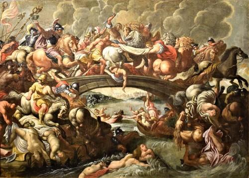 """""""La Bataille des Amazones"""" cercle Pieter Paul Rubens vers1630"""