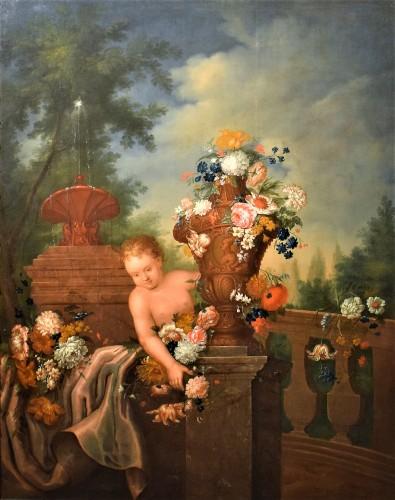 Nature Morte de Fleurs dans un jardin