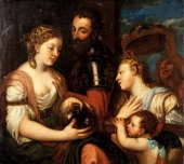 Conjugal Allegory, oil on canvas 17th centuy