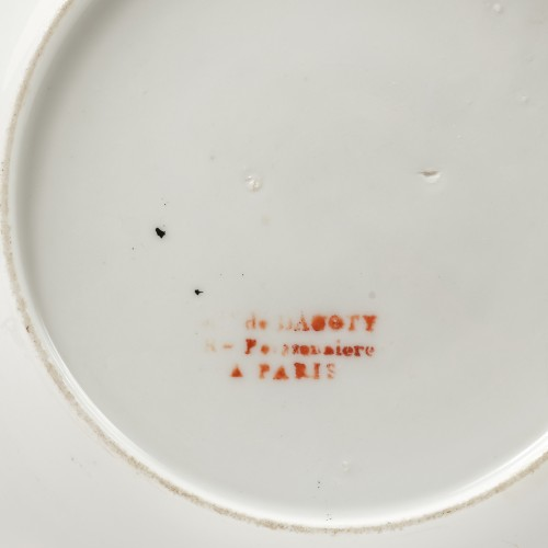 Dagoty for Russia Rare set of 5 plates from the Prince Vorontsov service - Porcelain & Faience Style Empire