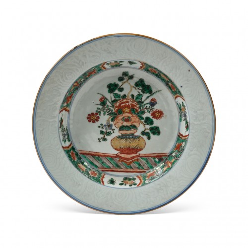 A rare China porcelain plate  From the collection of Augustus II The Strong