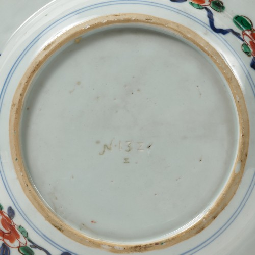 A rare China porcelain plate  From the collection of Augustus II The Strong - Porcelain & Faience Style Louis XV