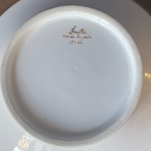 A Paris porcelain cup and saucer  With portrait of King Louis XVIII -