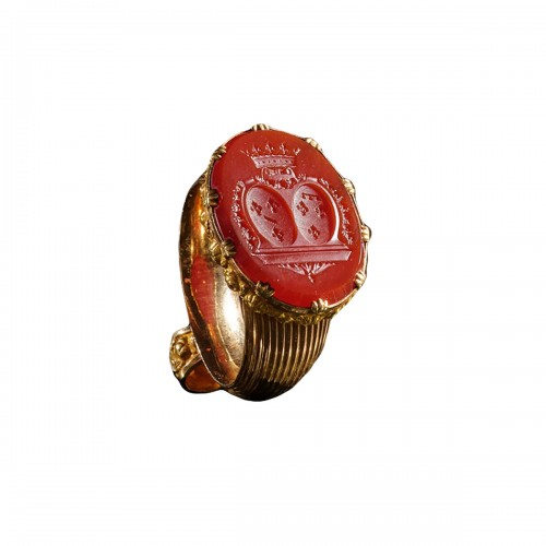 The personal seal of the mother of King Louis-Philippe, Carnelian and gold