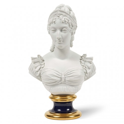 Bust representing the Duchess of Angoulême Sèvres biscuit Charles X period