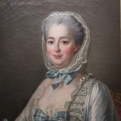 DROUAIS François-Hubert, after - Portrait of Madame de Pompadour - Paintings & Drawings Style