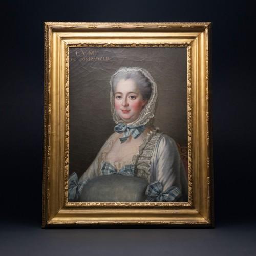 19th century - DROUAIS François-Hubert, after - Portrait of Madame de Pompadour