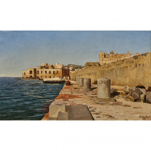 Vladimir ORLOVSKI (1842-1914) - Pier in the port of Pozzuoli, Italy