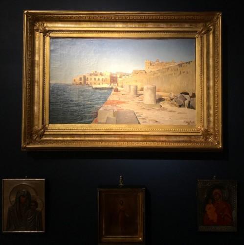 Paintings & Drawings  - Vladimir ORLOVSKI (1842-1914) - Pier in the port of Pozzuoli, Italy