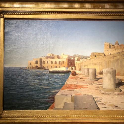 Vladimir ORLOVSKI (1842-1914) - Pier in the port of Pozzuoli, Italy  -