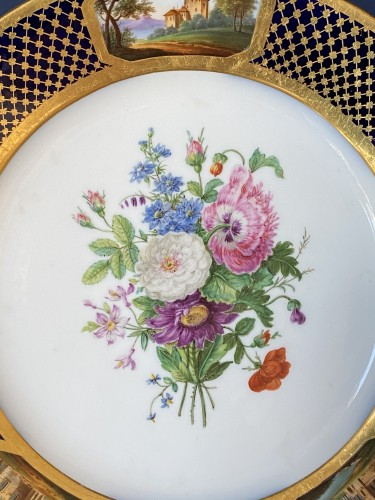 Porcelain & Faience  - Pair Of Porcelain Plates By Sheet From The Service Of Prince Bourbon-Condé