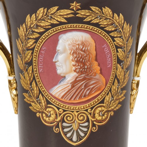 Important Sèvres porcelain royal vase Delivered to King Louis-Philippe  -