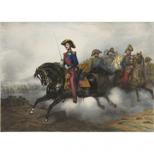Lithograph depicting the Duke of Orléans - after Eugène Lami (1800-1890)