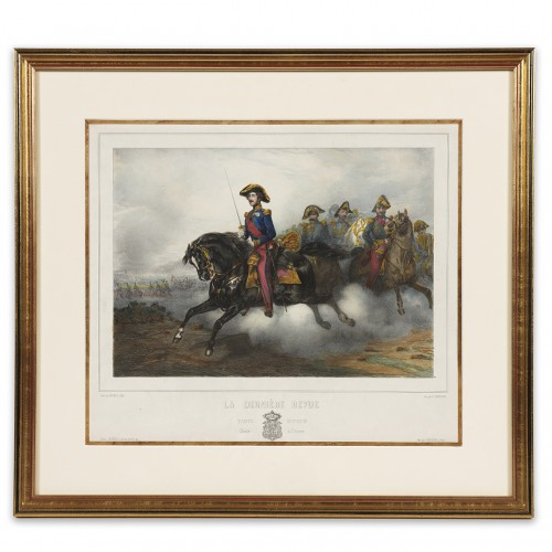 Lithograph depicting the Duke of Orléans - after Eugène Lami (1800-1890) - Engravings & Prints Style Louis-Philippe