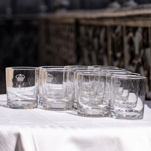 Rare set of 12 Royal crystal water glasses, service of King Louis Philippe - Glass & Crystal Style Louis-Philippe