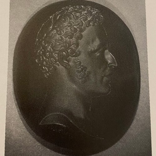 Objects of Vertu  - Intaglio on glass by Simon Fils portrait of the Duc of Angoulême