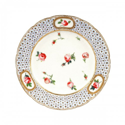 A 18th century royal Sevres porcelain plate from the Comte d'Artois service