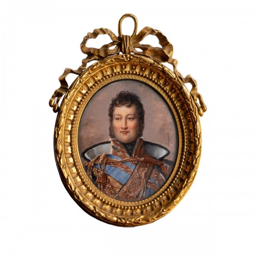 Miniature portrait of Louis-Philippe, Duke of Orléans, by Nicolas JACQUES