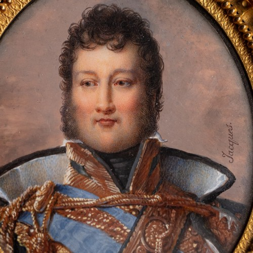 Objects of Vertu  - Miniature portrait of Louis-Philippe, Duke of Orléans, by Nicolas JACQUES