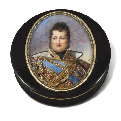 Miniature portrait of Louis-Philippe, Duke of Orléans, by Nicolas JACQUES  -