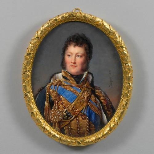 Antiquités - Miniature portrait of Louis-Philippe, Duke of Orléans, by Nicolas JACQUES