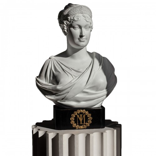 Exceptional Sèvres imperial biscuit bust