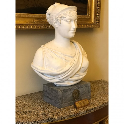 Exceptional Sèvres imperial biscuit bust - Empire