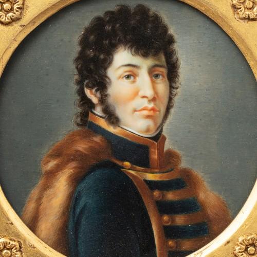 Miniature portrait of Joachim Murat after François Gérard (1770-1837) - Objects of Vertu Style Empire