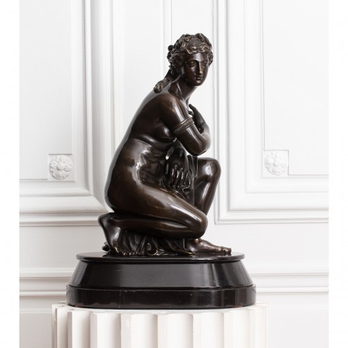 Antoine COYSEVOX (1640-1720), after. Crouching Venus, Bronze of 19th c. - Sculpture Style Louis-Philippe