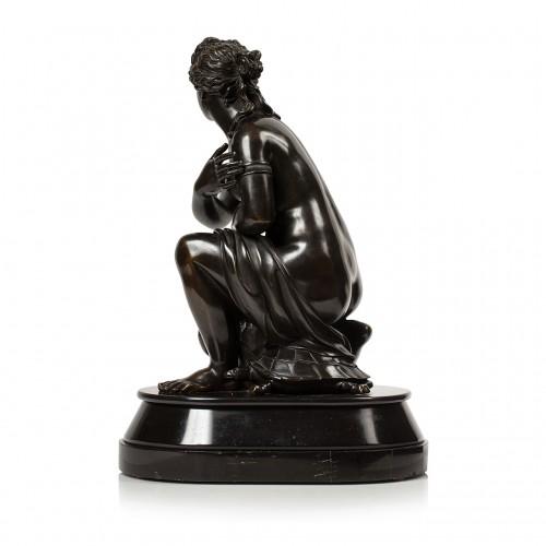 Sculpture  - Antoine COYSEVOX (1640-1720), after. Crouching Venus, Bronze of 19th c.