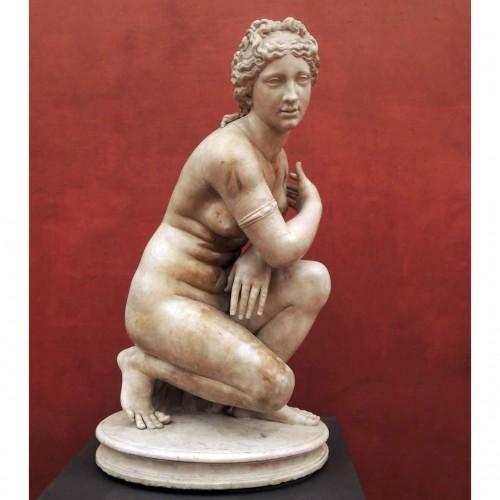 Antoine COYSEVOX (1640-1720), after. Crouching Venus, Bronze of 19th c. -