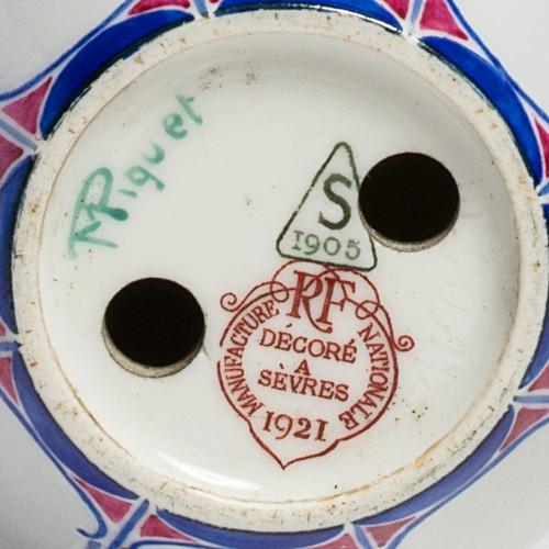 A sèvres porcelain art nouveau vase By Marcel-Jean Piquet, 1921 - Porcelain & Faience Style Art nouveau